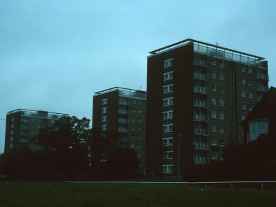 View of Wingfield House, De Montfort House, and Kingshurst House