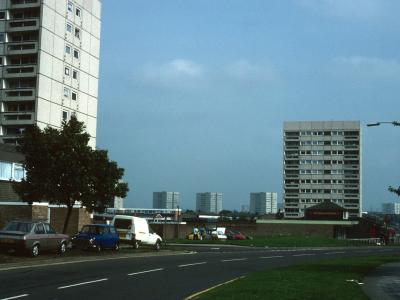 View of 11-storey blocks on Bosworth Drive