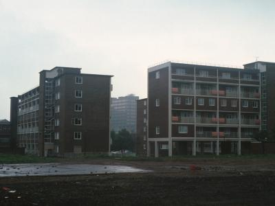 View of 6-storey blocks on Morville Street and Browning Street