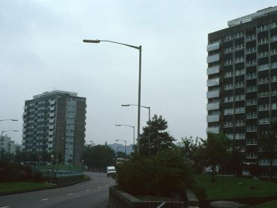 View of 12-storey blocks on Great Lister Street and Manor Road