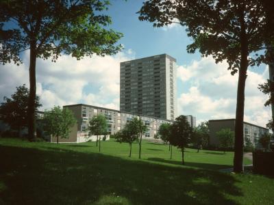 View of 20-storey block