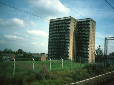 View of 16-storey block
