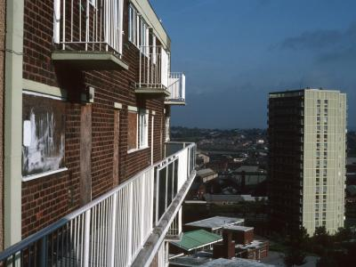 View of Mile Oak Court from George Ryder House
