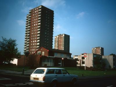 View of 20-storey block in Hickman Street redevelopment