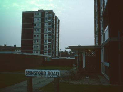 View of 9-storey block on Chetton Green