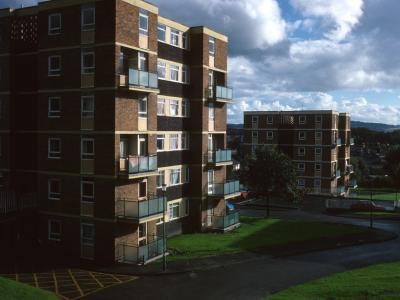 View of 6-storey blocks in Chapel Street redevelopment