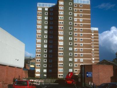 View of Westley Street blocks