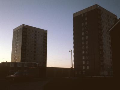 View of 13-storey blocks on Chaucer Avenue