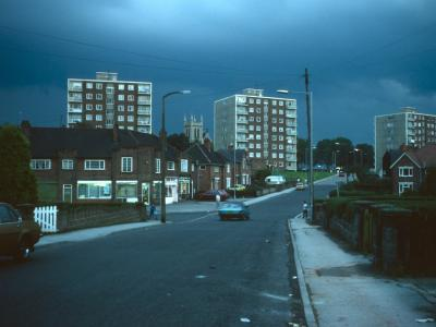 View of 8-storey blocks on Valley Road