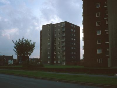 View of Grosvenor Court and Gregory Court from Lakefield Road