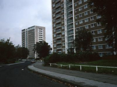 View of blocks from Southwest