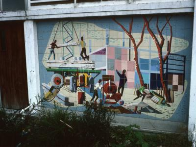 Mural at entrance to Birchfield Tower