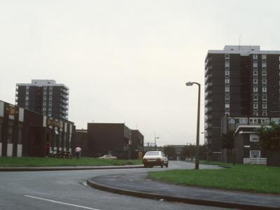 View of 15-storey blocks on Croydon Drive