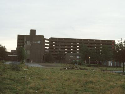 View of Fort Beswick blocks undergoing demolitio