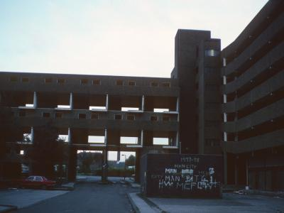 View of Fort Beswick blocks undergoing demolition