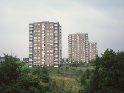 View of 13-storey blocks in Hattersley