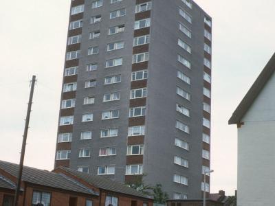 View of 14-storey block on Leighton Road