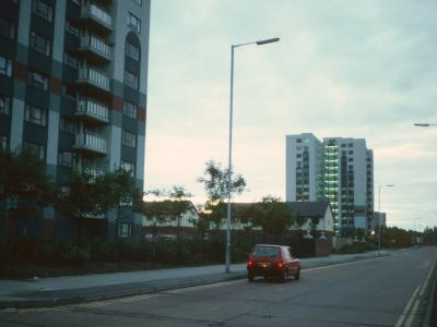 View of both 14-storey blocks on New Hey Road