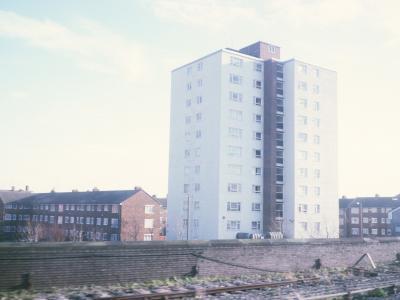 View of 11-storey block on Thorsway