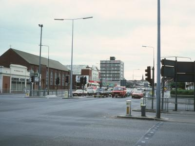 View of Baden House from junction of Prescot Road and Queens Drive