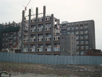 View of Garibaldi Street blocks undergoing demolition