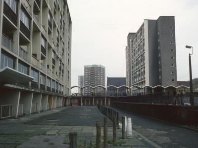 View of The Braddocks blocks with Conway Street blocks in background