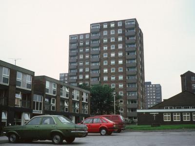 View of 13-storey blocks on Brook Street East