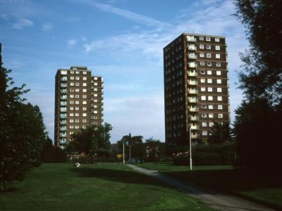 View of College Croft and 15-storey blocks on St Mary's Road