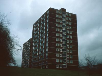 View of Heaton Towers and Norris Towers