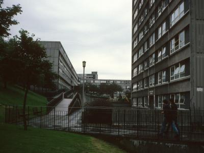 View of Pendlebury Towers with Stonemill Terrace and The Bentleys
