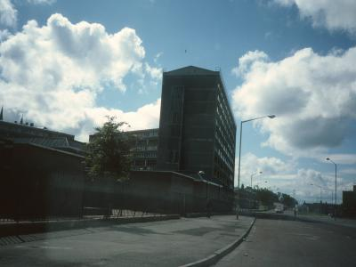 View of 10-storey block on Rossville Street