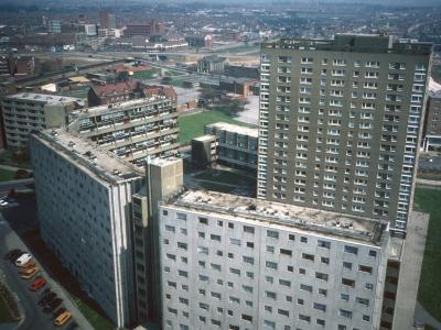 View of Handsworth House and Wilmcote House from 23rd floor of Ladywood House