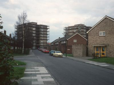 View of 8-storey blocks on Vicarage Fields