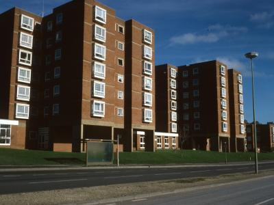 View of Leach Court blocks from Eastern Road