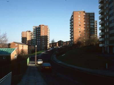 General view of Albion Hill redevelopment