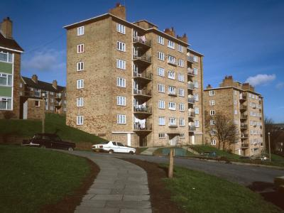 View of 7-storey blocks on Bristol Estate