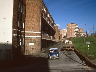 General view of Albion Hill redevelopment from Kingswood Street