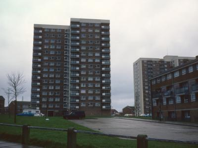 View of Dorset Court and Kingsland Court