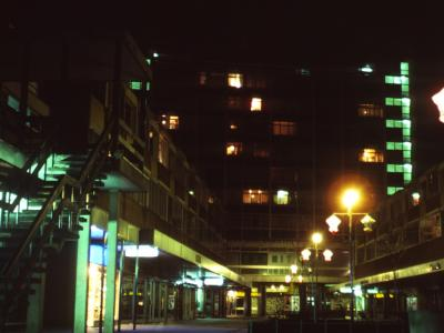 View of Hockmore Tower by night