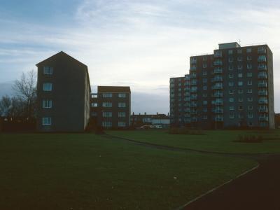 View of Sterte Court blocks