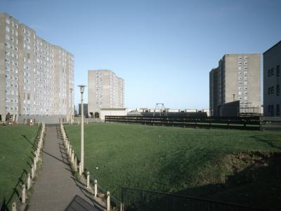 View of Sighthill Temporary Housing Area III (three 13-storey blocks)