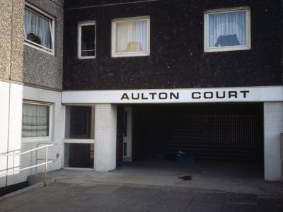 View of entrance to Aulton Court