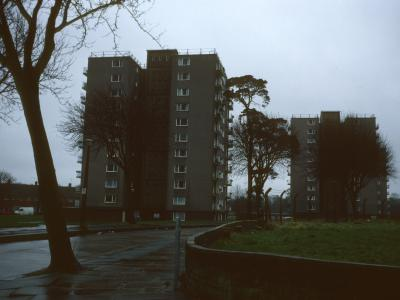 View of 11-storey blocks on Lydstep Crescent