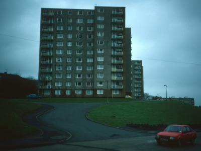 View of Clyne Court blocks