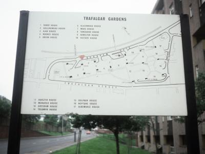 A plan of the Trafalgar Gardens development