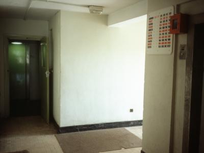 Interior of one of the 11 storey blocks