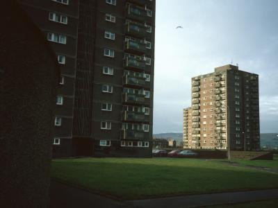 View of 13-storey blocks on Kirkoswald Drive