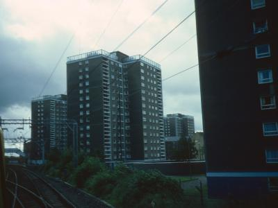 View of Dalmuir Gap blocks