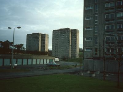 View of blocks on Littleholm Place