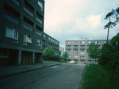 View of Kildrum 21 blocks, including 5-storey blocks in development